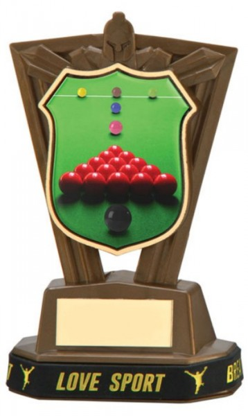 Plastic Snooker Trophies in Antique Gold Coloured Finish 1