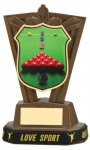 Plastic Snooker Trophies in Antique Gold Coloured Finish