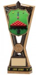 Resin Snooker Trophies in Antique Gold Coloured Finish