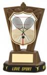 Plastic Squash Trophies in Antique Gold Coloured Finish