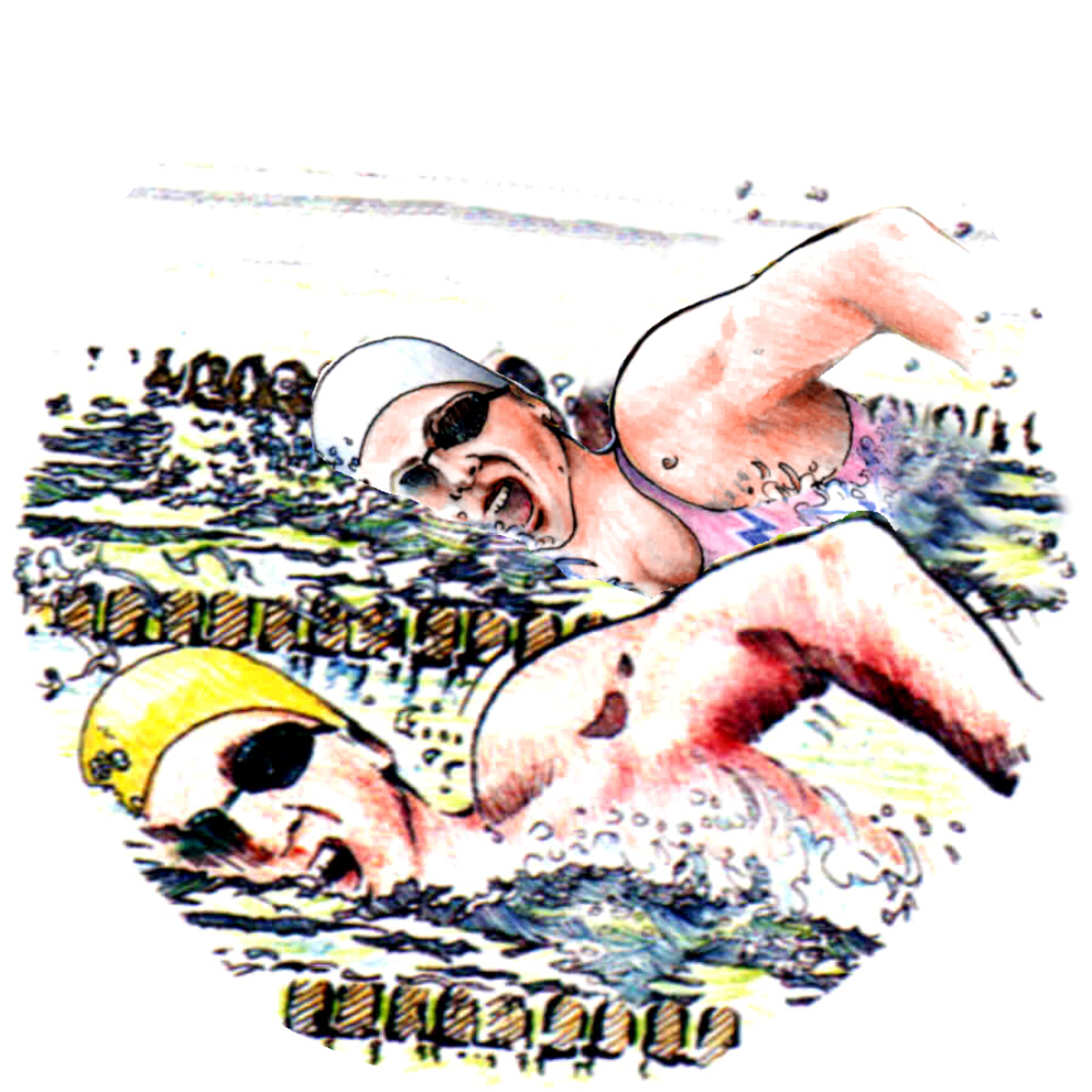 swimming male female